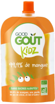 Pack 4 Gourdes Mangue dès 3 ans Good Gout Kidz