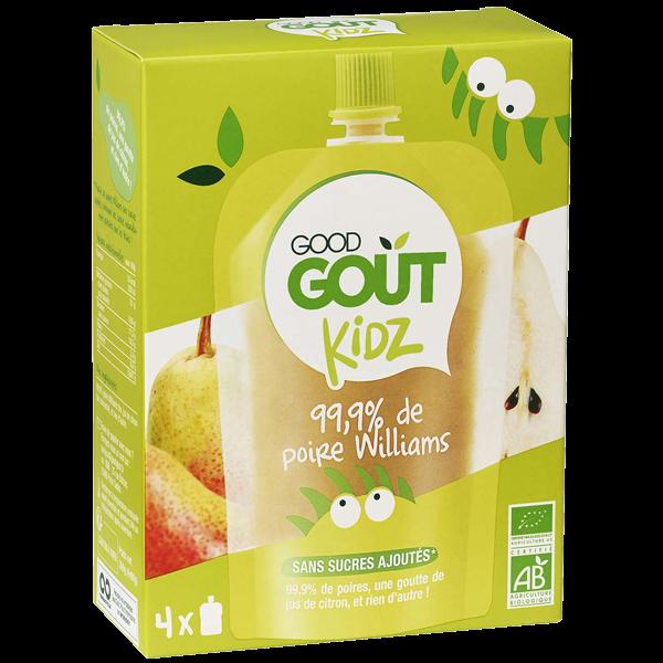 Pack 4 Gourdes Poire dès 3 ans Good Gout Kidz