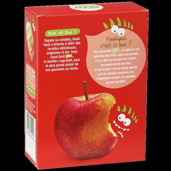 Pack 4 Gourdes Pomme dès 3 ans Good Gout Kidz