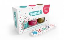 Pack of 3 Nail Polish water-based Pink White Light Blue Namaki