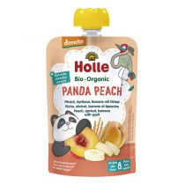 Panda Peach Fruit Pouch 8M 100g Holle