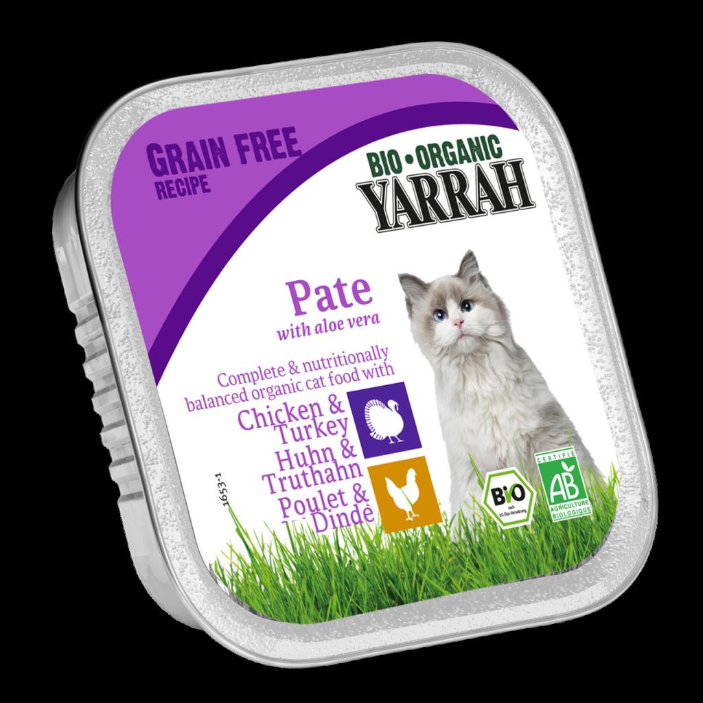 Pâté Chat Poulet Dinde Aloe Vera Sans Gluten Bio 100G