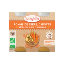 PDT Carotte Veau Bio 2X200G Babybio