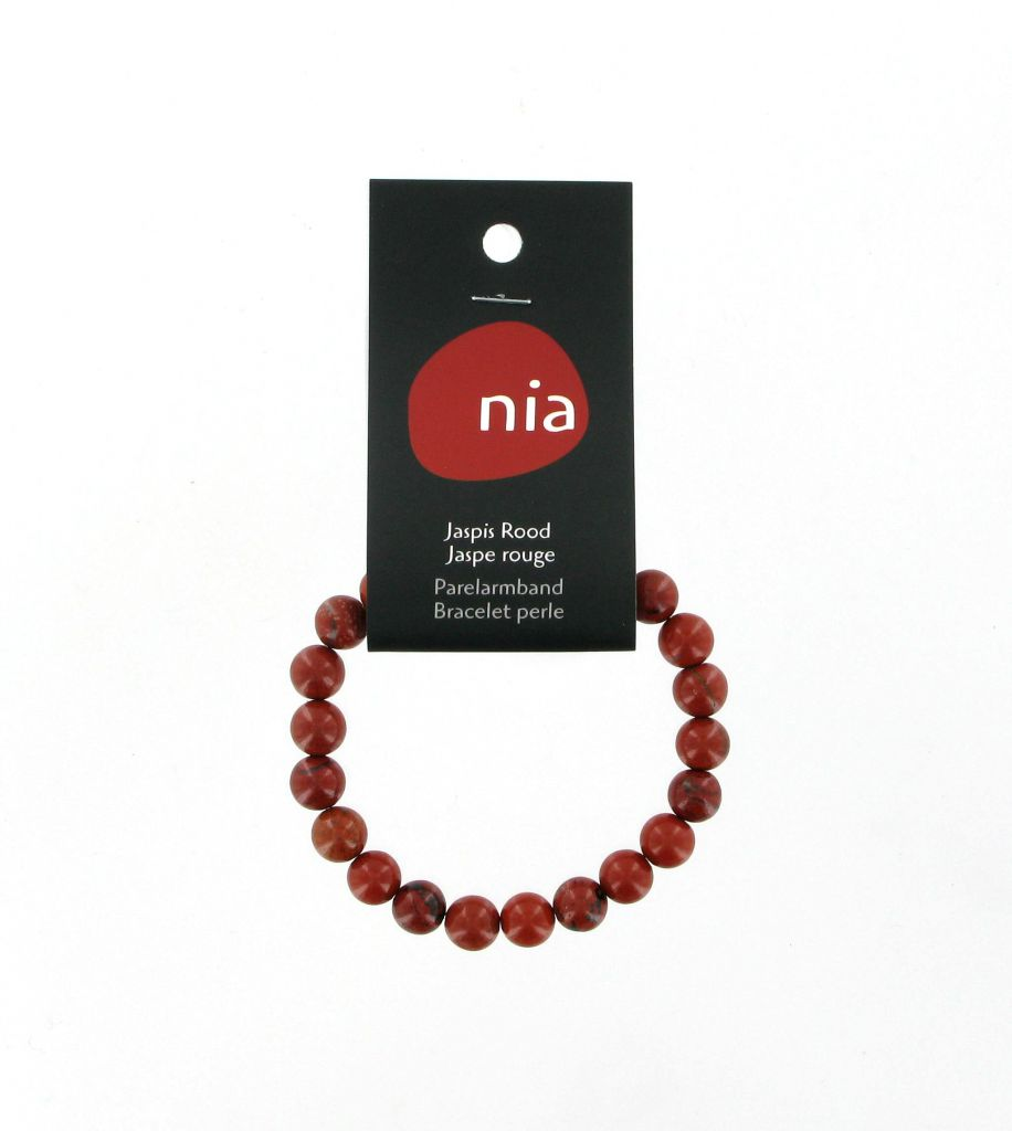Pearl Bracelet Red Jasper Nia