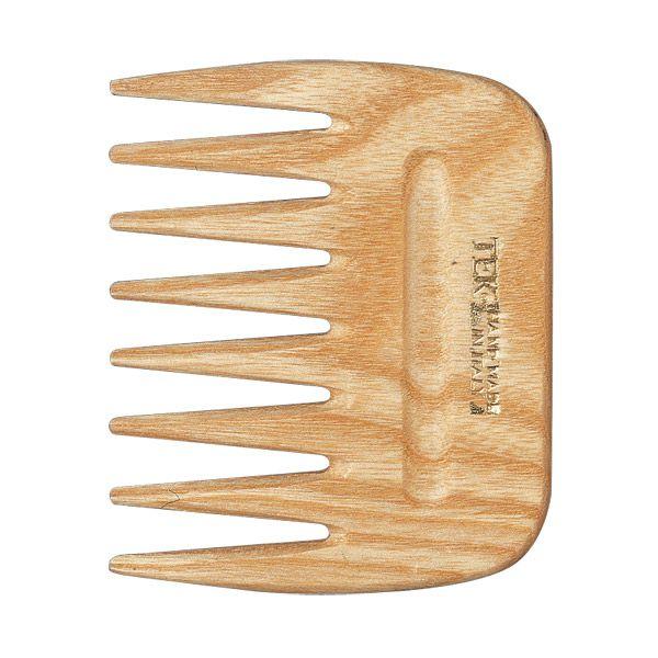 Peigne Afro dents larges frêne naturel Tek