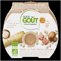 Petit Plat Beige Haricots Coco Poulet Champignons Good Gout
