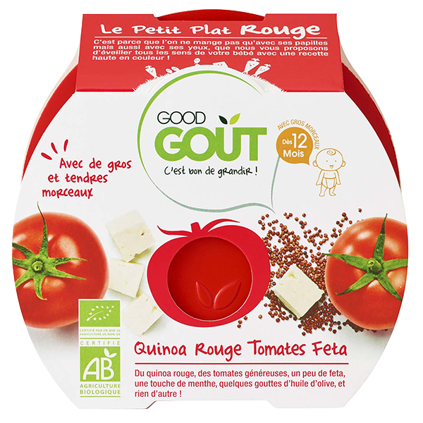 Petit Plat Rouge Quinoa Tomate Feta Good Gout