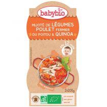 Petits Bols Bébé Menu Légumes Poulet Quinoa Bio 2X200G