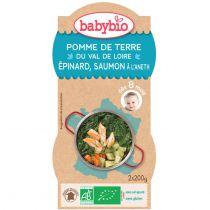 Petits Bols Bébé Menu Pomme De Terre Épinard Saumon Bio 2X200G