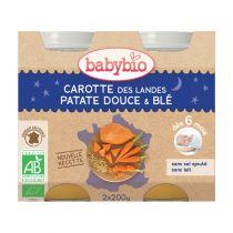Petits Pots Bébé Bonne Nuit Carottes Patate Douce Blé Bio 2X200G