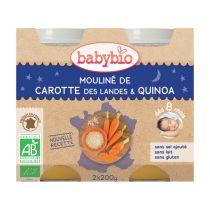 Petits Pots Bébé Bonne Nuit Carottes Quinoa Bio 2X200G