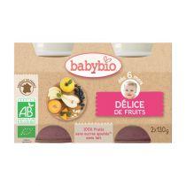 Petits Pots Bébé Délice De Fruits Bio 2X130G