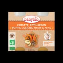 Petits Pots Bébé Menu Légumes Canard Fermier Bio 2X200G