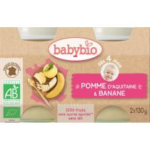 Petits Pots Bébé Pomme Banane Bio 2X130G