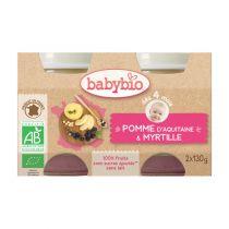 Petits Pots Bébé Pomme Myrtille Bio 2X130G