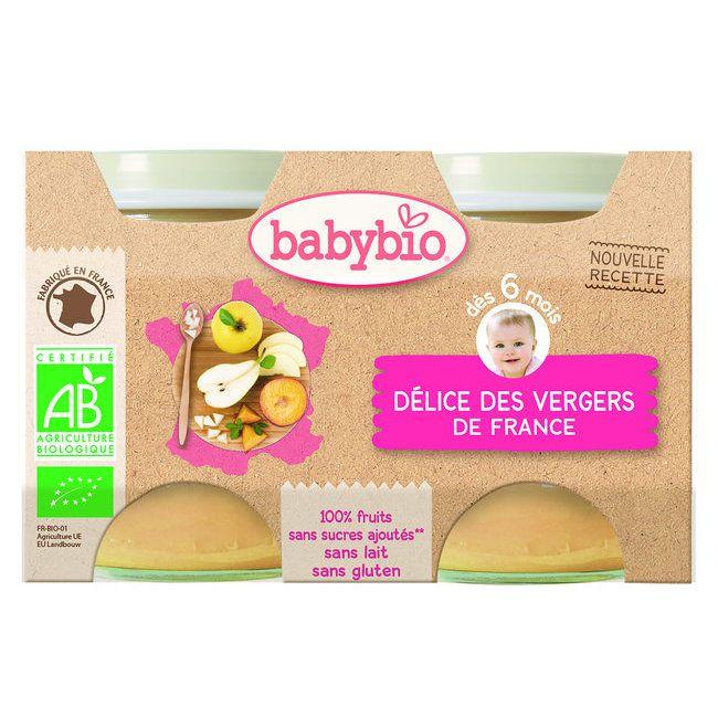 Petits Pots Délice des Vergers de France Bio 2X130G