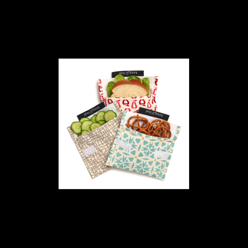 Pochette à Goûter et Sandwich Réutilisable Keep Leaf