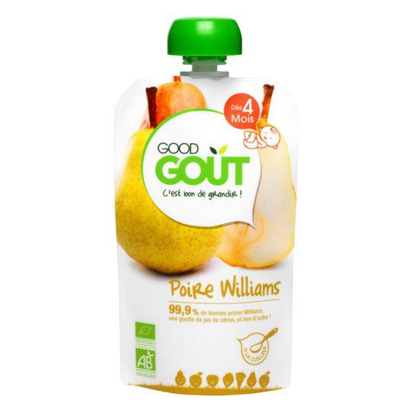 Poire Williams 120g dès 4 mois Good Gout DLU 03/05/19