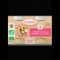 Pomme Banane Coco Bio 2X130G 6M Babybio