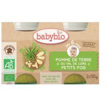 Pomme de Terre Petit Pois 6M 2X130G Babybio