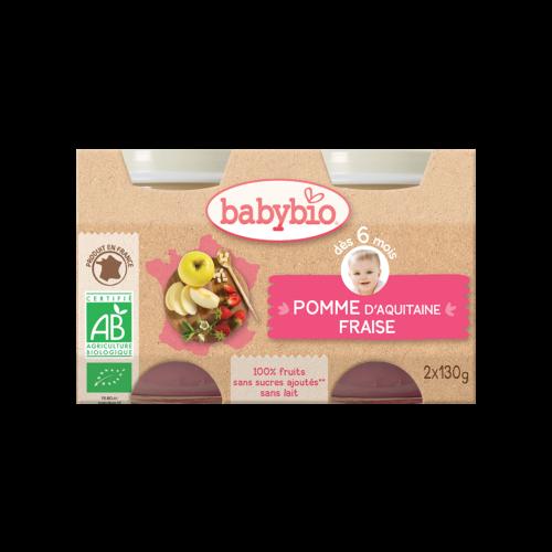 Pomme Fraise Bio 2X130G Babybio