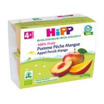 Pomme Pêche Mangue 4M 4x100g Hipp