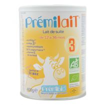 Prémilait 3 Growth milk 12-36 months 900g Premibio