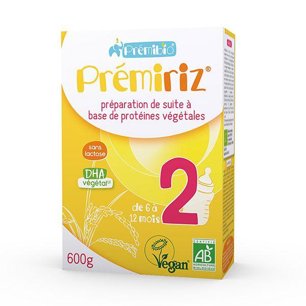 Prémiriz 2ème âge bio - protéines végétales 600g