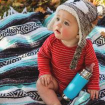 Pura Kiki 325ml Infant Bottle with Sleeve Aqua