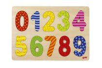 Puzzle Chiffres 0-9 Bois Goki