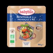 Sachet menu du Soir Ratatouille Provençale Riz Bio 190g 8M