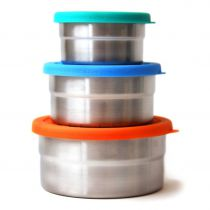 Seal Cup Trio Boîtes Ovales Inox Ecolunchbox