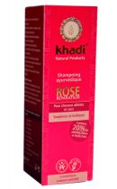 Shampooing ayurvédique Rose 210ml Khadi