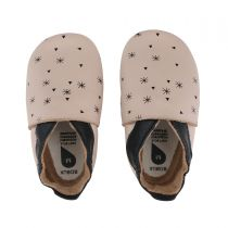 Soft Soles Chaussons Snowflakes Beige Bobux