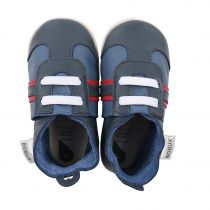 Soft Soles Chaussons Sport Navy Rouge Bobux