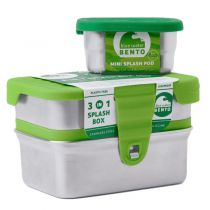 Splash Box 3-en-1 Inox Ecolunchbox