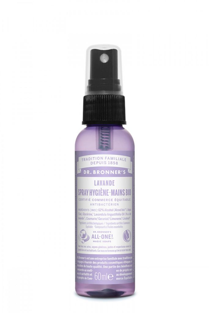 Spray Hygiène Mains Lavande 60ml Dr Bronner\'s