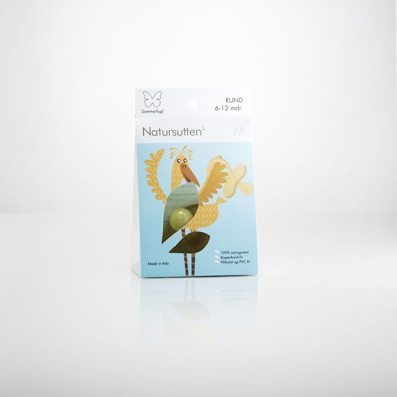 Sucette Bout Rond Papillon Caoutchouc Naturel Natursutten
