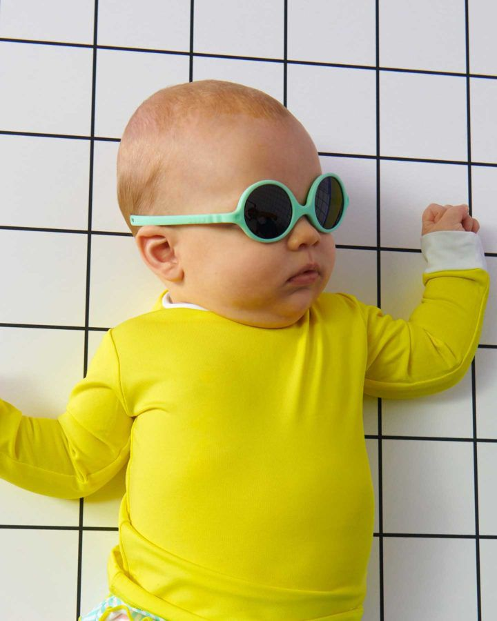 Sunglasses Diabola 0-1Y Light Blue Ki et La