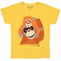 T-Shirt Orang Outan Manches Courtes Coton Bio Coq en Pâte