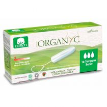 Tampons Regular organic cotton without applicator 16 pieces Organyc