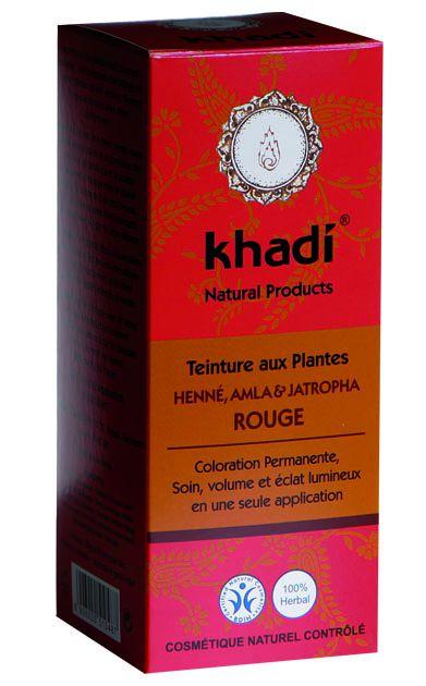 Teinture Aux Plantes Henné Amla Jatropha Rouge 100G