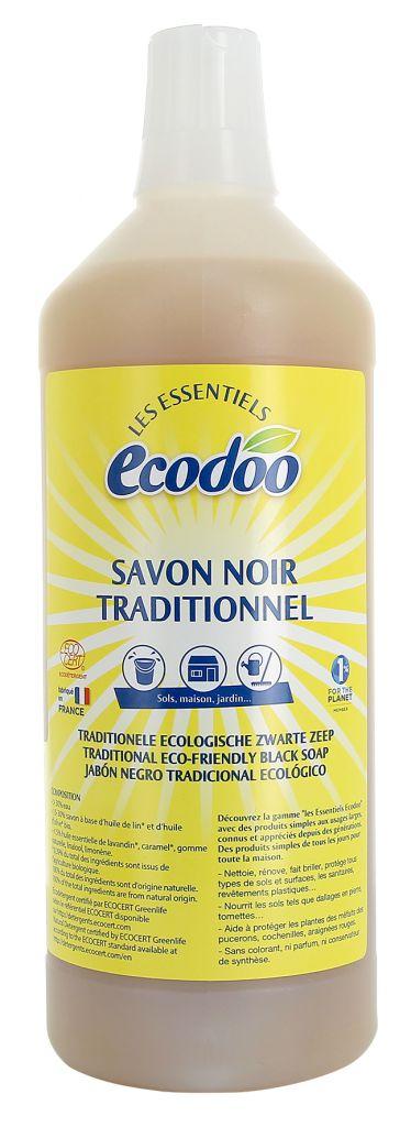 Traditionele Ecologische Zwarte Zeep 1L Ecodoo
