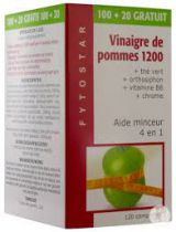 Vinaigre De Pommes 1200 - 100+20 Comprimés Gratuit