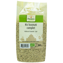 White Basmati Rice Organic 500G Primeal